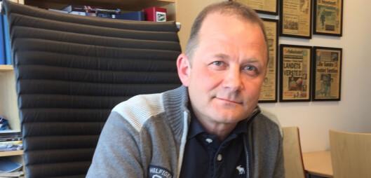 Steinulf Henriksen frykter for utdanningen i Bodø dersom de<br>ikke tar opp studenter i år. Foto: Stein Jakobsen, Folkebladet