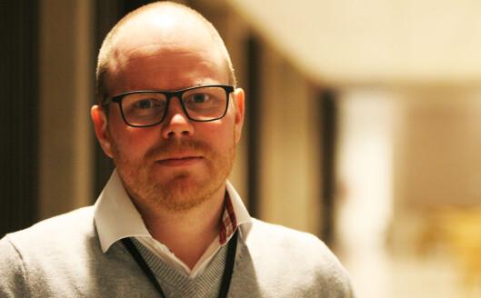 Gard Steiro vil ha nye betalingsmodeller og gir bort<br>avisa gratis for å teste. Foto: Martin Huseby Jensen