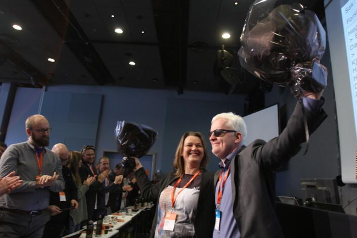 Under landsmøtet ble Hege Iren Frantzen valgt til leder - og Dag Idar Tryggestad som nestleder - av Norsk Journalistlag.