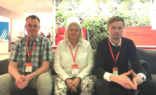 Ulf Tannæs-Fjeld, Berit Rekaa og Gaute Zakariassen.<br>Foto: Martin Huseby Jensen