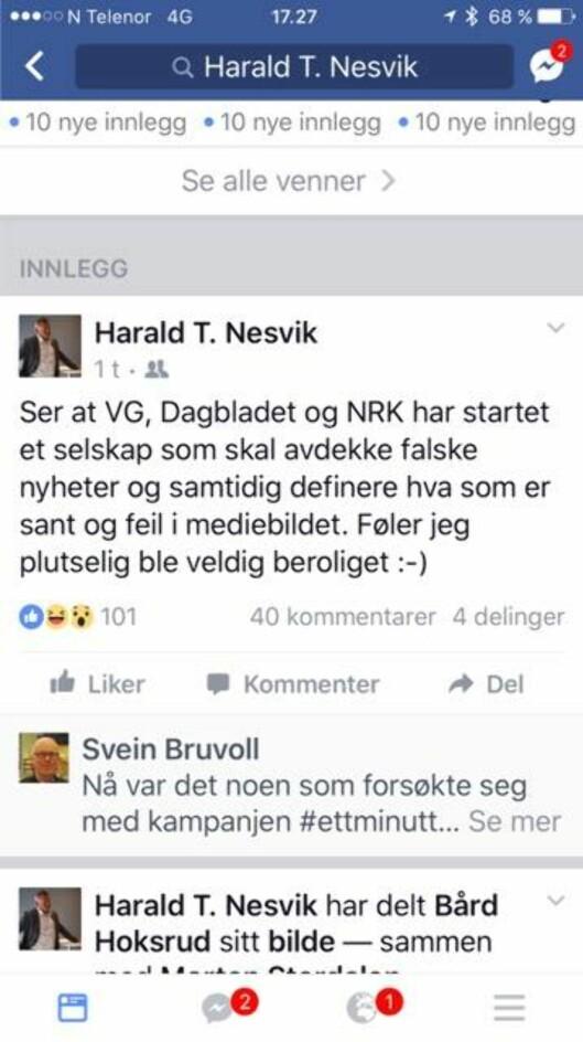 Fra Nesviks Facebookprofil.