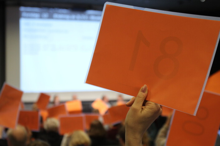 Landsmøtet skal stemme over NJ Møre og Romsdals forslag om reduksjon av NJs klimautslipp. Her fra NJs landsmøte i 2017. Illustrasjonsbilde / Arkiv, Journalisten