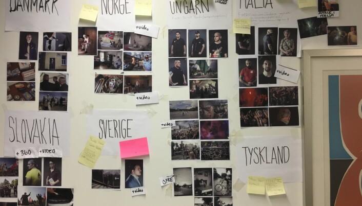 Bilde fra et av møterommene på VG-huset som teamet brukte som arbeidsrom. Foto: Espen Rasmussen.