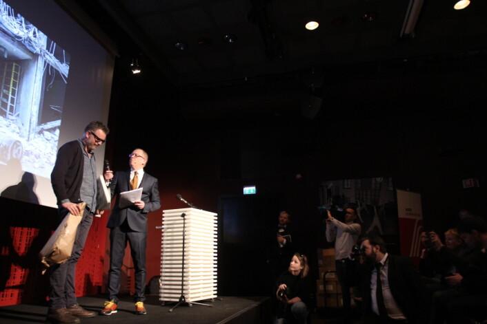 Aleksander Nordahl vant den gjeveste prisen under Årets Bilde-utdelingen. Foto: Martin Huseby Jensen.