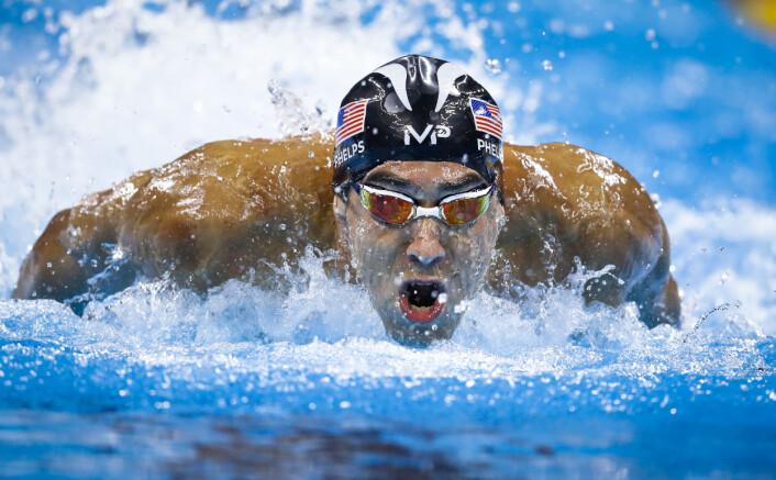 3. etappen i herrenes finale i 4x100m medley. Foto: Odd R. Andersen