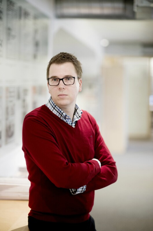 Eirik Hoff Lysholm i Dagsavisen<br>Foto: Jan Inge Haga