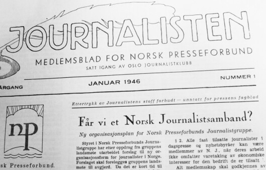 Forsiden på Journalisten.