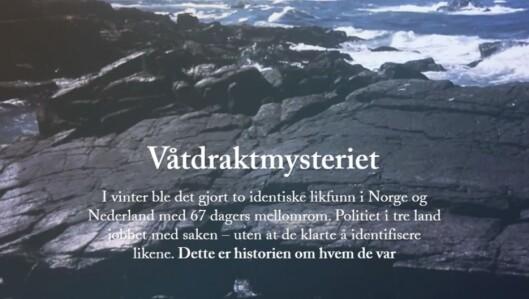 """Dagbladet hentet hjem Skup-prisen for 2015 med<br>""""Våtdraktmysteriet"""".<br>Illustrasjon: Skjermdump fra Dagbladet.no"""