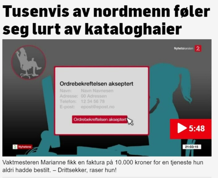 Faksimile TV 2s «Kataloghaiene».