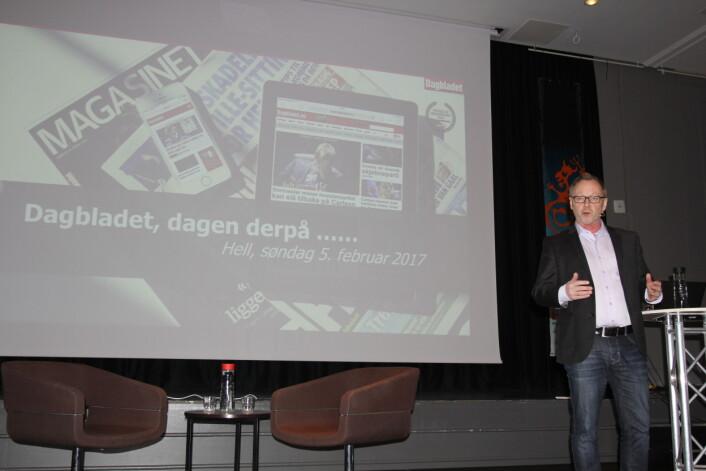 John Arne Markussen dagen derpå på Hellkonferansen. Foto: Angelica Hagen