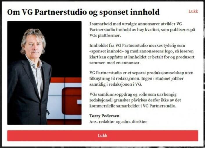 VG Partnerstudio og tilsvarende satsinger i andre mediebedrifter har aktualisert debatten om hvor grenseneegentlig går mellom reklame og redaksjonelt innhold.