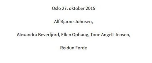 På oktobermøtet i 2015 ble 3 saker behandlet med kun én<br>representant fra allmennheten tilstede, her Reidun Førde.