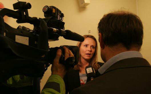 Kulturministeren i intervju med TV 2.<br>Foto: Martin Huseby Jensen