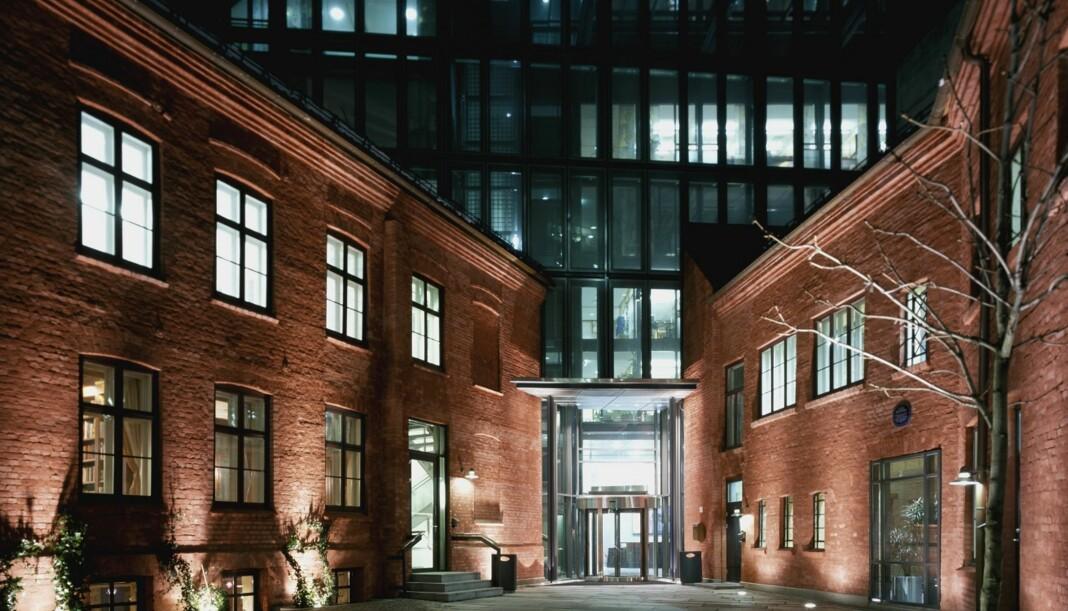 De historiske lokalene i Apotekergata huset Schibsted i mange år. Arkivfoto Journalisten