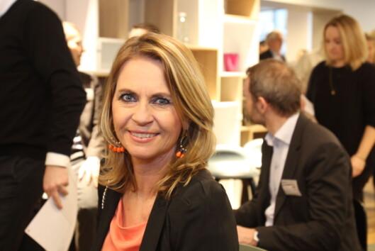 Ellen Arnstad konstaterer at Aller opprettholder sin posisjon.<br>Foto: Martin Huseby Jensen