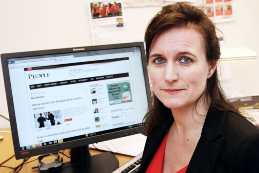 Nina Hanssen er forbundsleder i Arbeiderbevegelsens<br>Presseforbund. Foto: Birgit Dannenberg
