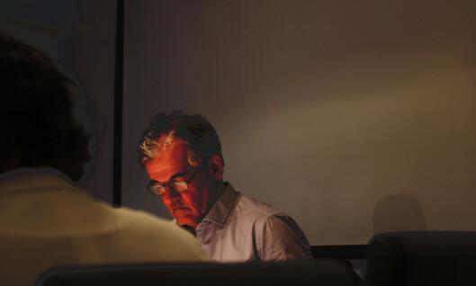 Alf Bjarne Johnsen får ikke være til stede under<br>behandlingen av klagen. Foto: Martin Huseby Jensen