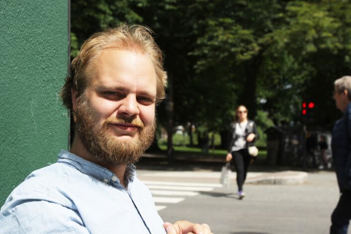 Stilen hans er halsbrekkende og sprø, men Mímir Kristjánsson tror han er mer seriøs nå enn før.<br>Foto: Martin Huseby Jensen