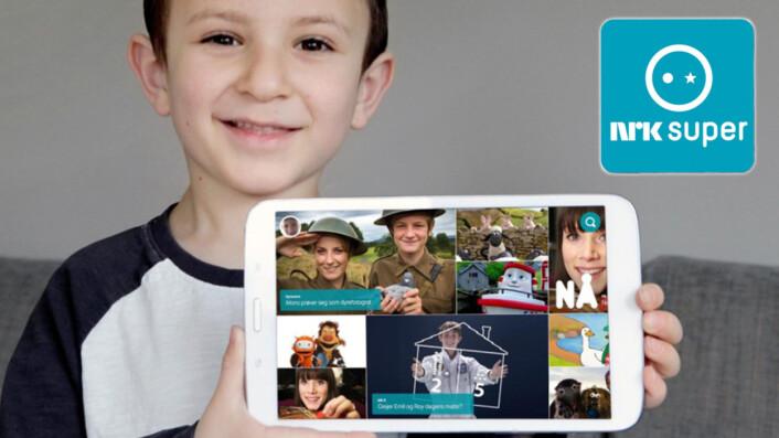 Visuell navigasjon gjør at barn lett kan bruke den nye appen for NRK Super.Foto: NRK.
