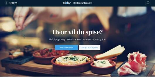 Aftenposten mottok Merket for god design for Oslobys<br>restaurantguide.Foto: Skjermdump fra Aftenposten.no