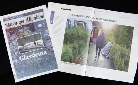 f110278b Glassjenta-prosjektet ble publisert lørdag 30. januar. Foto: Fredrik  Refvem, Stavanger