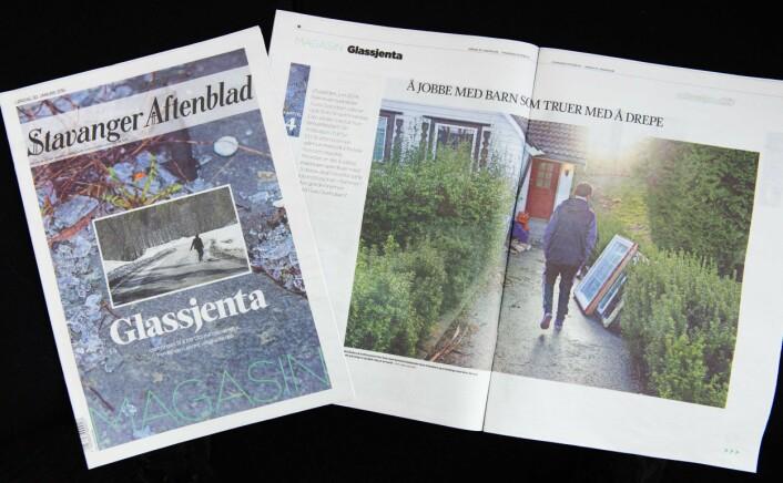 Glassjenta-prosjektet ble publisert lørdag 30. januar.Foto: Fredrik Refvem, Stavanger Aftenblad