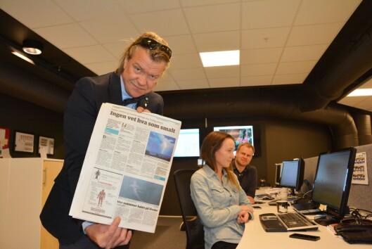 Alex Rosén har tatt på seg oppgaven med å finne ut av hva<br>som forårsaket det mystiske drønnet.<br>Foto: Birgitte Henriksen, Moss avis.