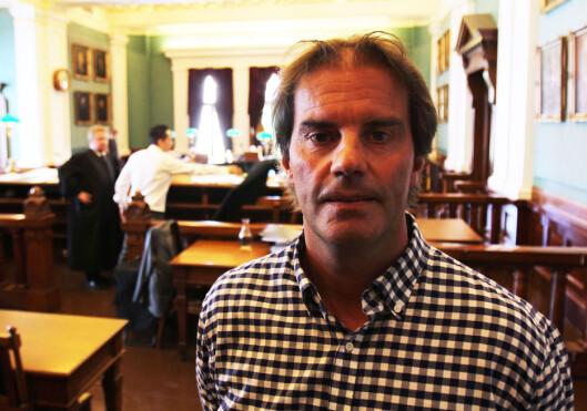 Morgan Andersen i Høyesterett under saken mot Aftenposten<br>i juni i år.Foto: Martin Huseby Jensen