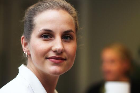 Ingrid Tinmannsvik er leder i NJ student i Volda og<br>sentralt.<br>Foto: Martin Huseby Jensen.