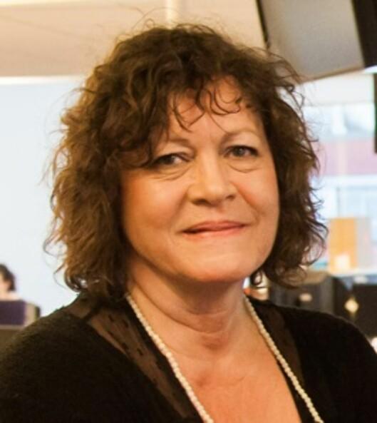 Åsne Haugli, leder av redaksjonsklubben<br>i Dagens Næringsliv.<br>Foto: Kathrine Geard