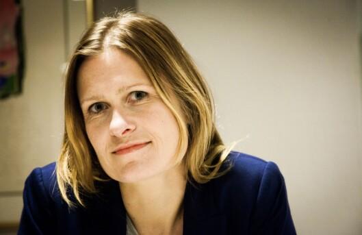 Kristine Foss, jurist i Norsk Presseforbund, varsler at presseorganisasjonene nå vil ta saken<br>oppmed Justisdepartementet. Foto: Kathrine Geard