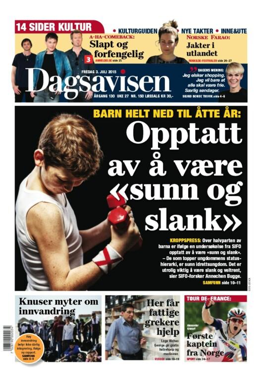 Faksimile Dagsavisens forside