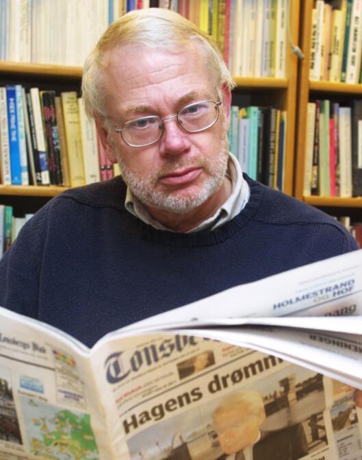 Medieforsker Sigurd Høst er mannen bak de<br>rlige avisrapportene.