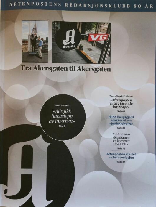 Aftenpostens Redaksjonsklubb 80-års jubileumsmagasin