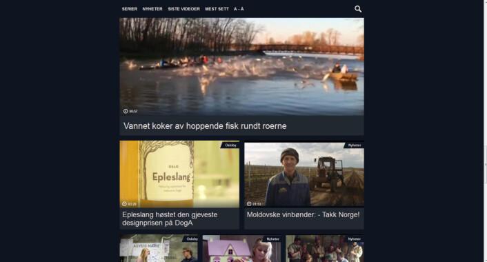 Slik lå videoen tilgjengelig i Aftenpostens web-TV torsdag morgen.