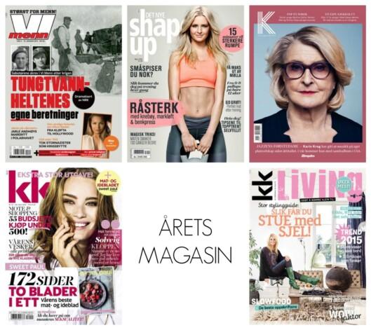 Kandidatene til Årets magasin 2014