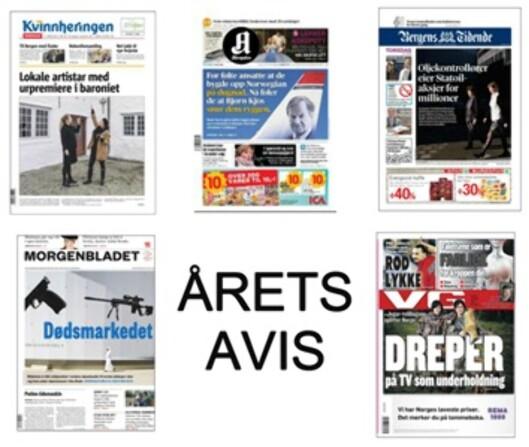 Kandidatene til Årets avis 2014