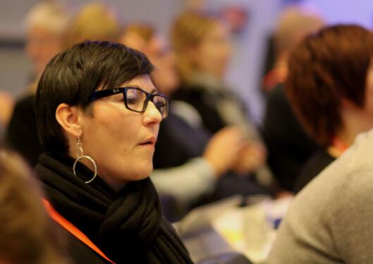 Monica White Martinsen fra Nordland representerer NRK konsernlag og er kandidat til det nye landsstyret. Foto: Martin Huseby Jensen.