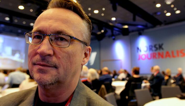 Torbjørn Brenna, sekretariatsleder i Norsk Journalistlag er på sitt første NJ-landsmøte. Foto: Martin Huseby Jensen.