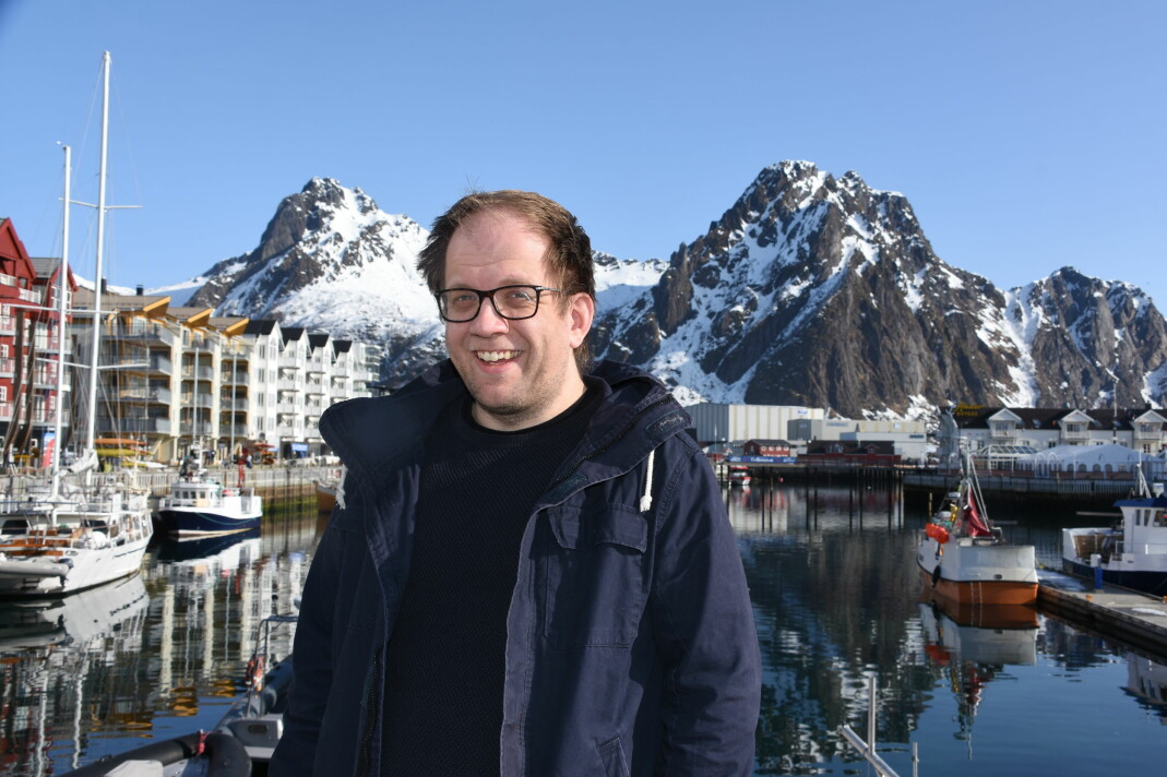 Øystein Ingebrigstsen er journalist i Lofotposten. Foto: Vilde Aurora Drevland Klyve / Lofotposten