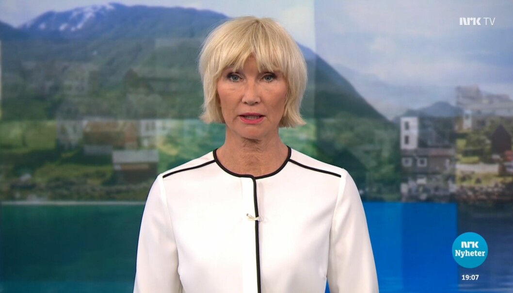 Skjermbilde fra Dagsrevyens sending 16. april. Foto: NRK
