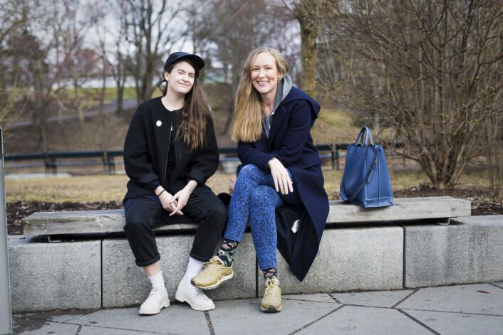 Hanna von Bergen og Christina Skreiberg lager podkasten Frilanslivet. Foto: Kristine Lindebø