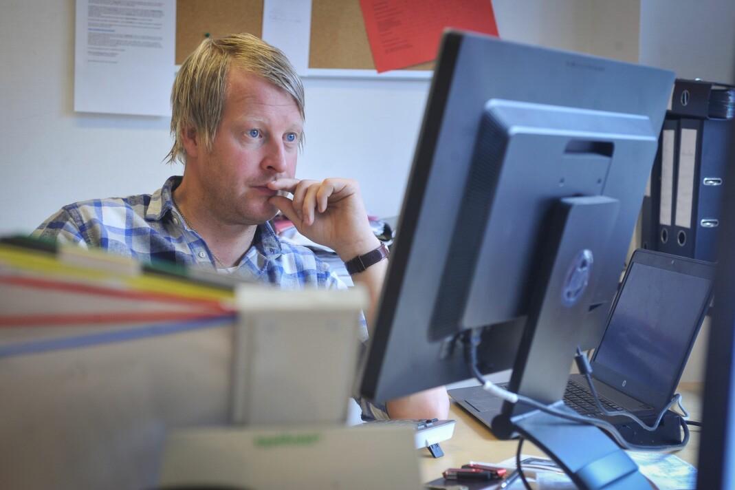 Mattias Mellquist går fra jobben som redaktør i Vestby avis til redaktør i Amta. Foto: Privat