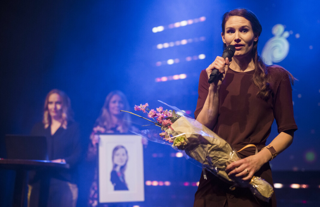 Kommentator Eirin Eikefjord i Bergens Tidende fikk NTBs språkpris. Foto: Kristine Lindebø