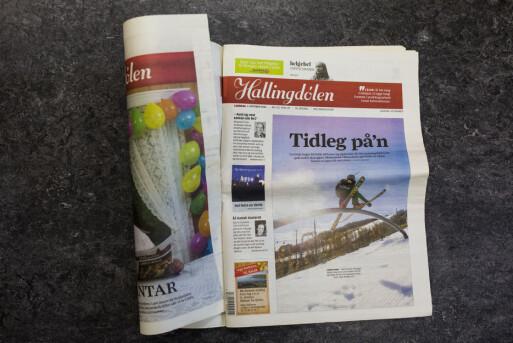 Inni «innpakningen» var avisen med den vanlige forsiden.