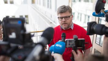 Richard Aune i Norsk Journalistlag i NRK. Foto: Kristine Lindebø