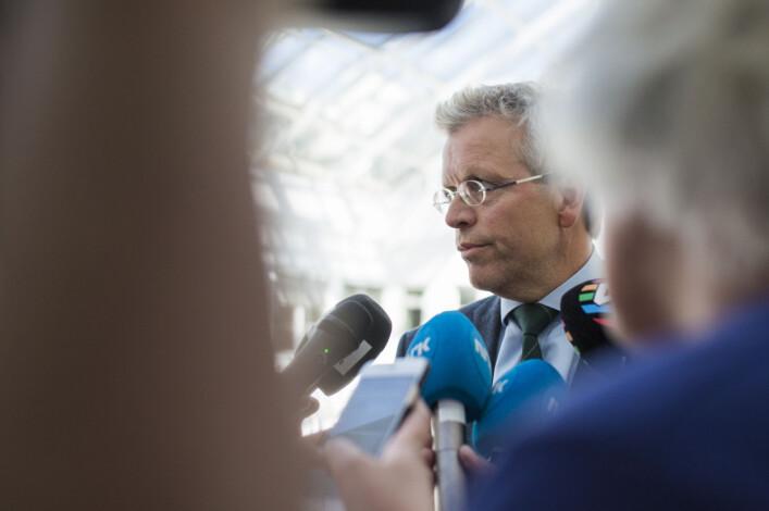 Mekler Torkjell Nesheim hos Riksmekleren. Foto: Kristine Lindebø