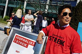 NRK-streikens første timer
