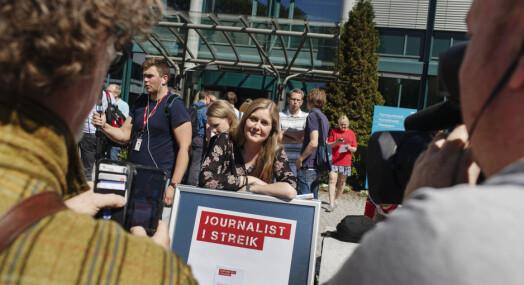 – All erstatning av streikende journalister er streikebryteri