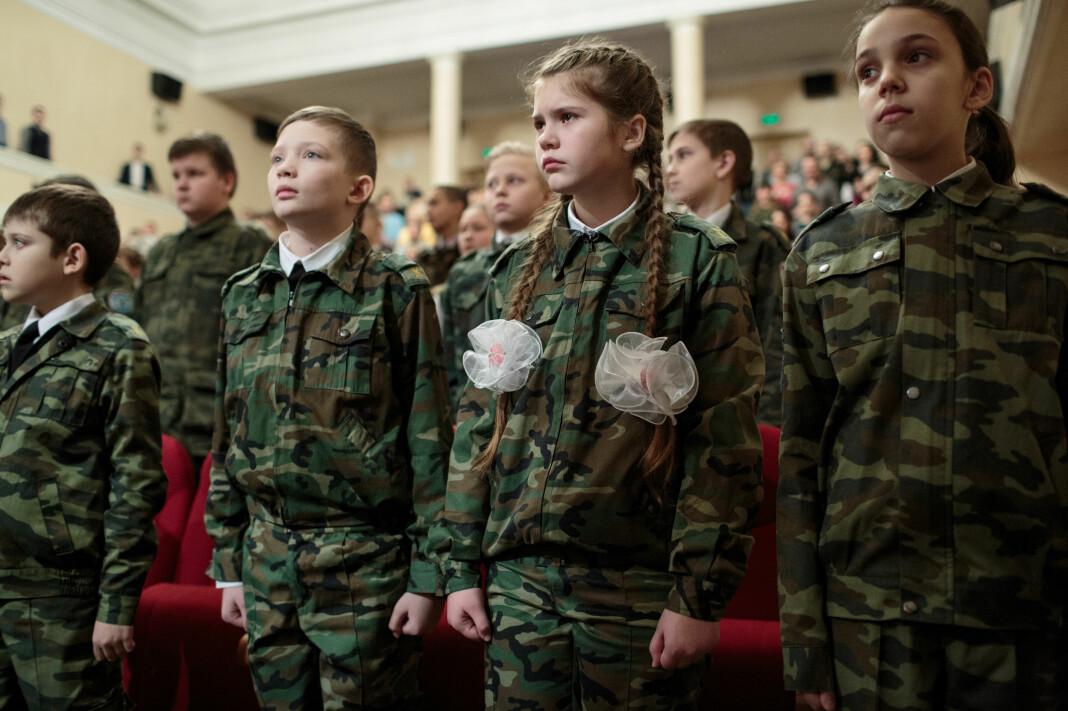 Elever fra Skole #18 under en fremførelse på teateret i Sergiyev Posad i Russland. Foto: Sarah Blesener